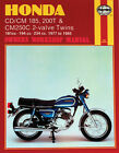 HAYNES Repair Manual - Honda CD/CM 185, 200T CM250C 2-valve Twins (77-83)