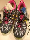 Womens Size 6 Asics Gel hyper Tri Running Shoes T581N Onyx Flash Yellow Flash P