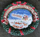 1993 FITZ & FLOYD St. Nick's Happy Christmas To All canape plate