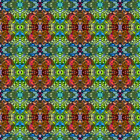 Sixties Alligator Bold Bright Fabric Printed by Spoonflower BTY