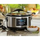 Large Slow Cooker Hamilton Beach Stainless Steel Set Forget Programmable 6-quart