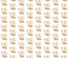 Bold Bright Girl Skateboard Fabric Printed by Spoonflower BTY