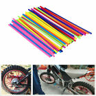 72x Spoke Skins Covers Motocross Motorcycle Bike Wheel Guard Protector Wraps US