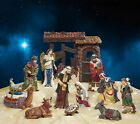13 Piece Indoor Christmas Nativity Set 13 Pc Holy Family Scene Hand Painted