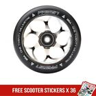 Fasen 120mm Chrome Silver Metal Core Scooter Wheel inc Bearings