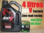 4L MOTUL 300V FACTORY LINE 10W40 4T OIL+ HF145 FILTER XV250 S VIRAGO 04 2004 USA