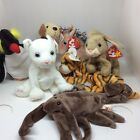 Ty Beanie Babies assorted lot of 7 Horse, Rufus, Nibbly, India, Stinger, Frigid
