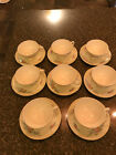 Eight (8) Homer Laughlin Eggshell Georgian Cashmere Cups and Saucers