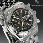 BREITLING EVOLUTION CHRONOMAT SS 43MM STUNNING RARE SLATE DIAL MENS WATCH A13356