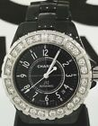 Chanel J12 Diamond Automatic Wristwatch Water Resistant Black Ceramic Pre-Owned
