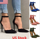 US Women Lady High Heels Pointy Toes Stiletto Shoes Sandals Side Cut Away Pumps