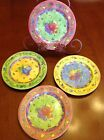 4 - SANGO Sue Zipkin 'SANGRIA' Salad Plates *Limes* *Apples* *Peaches* FREE SHIP