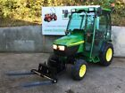 JOHN DEERE 4110 4WD COMPACT TRACTOR WITH FORKLIFT PALLET TINES