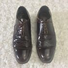 EUC PRADA Oxfords Brown Lace up Leather Wing Tip Italy Men size 38