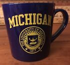 NEW University of Michigan LICENSED Coffee Cup Mug NCAA License Sticker