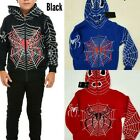 Boys Fashion Spider Man Zip Up All The Way Hoodies