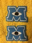MONSTERS INC M logo Embroidered Iron On Sew On Patch Lot of 2