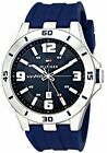 Tommy Hilfiger Men's 1791062 Stainless Steel Watch with Blue Silicone Band New