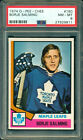 1974 75 OPC #180 BORJE SALMING ROOKIE CARD RC PSA 8 NM-MT MAPLE LEAFS