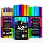 Gel Pens 48 Ink Colors Pen Set with Case Perfect for Adult Coloring Books S