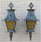 Two Hadco Outdoor Porch Lights Gothic Dragon Oriental Pagoda Style Cast Aluminum
