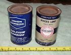 2 Vintage Union Carbide 2 Pound Tins for Miners Lamp