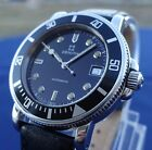 Vintage Zenith 37mm Diver Steel Automatic Watch Mens