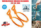 Lot Drain Snake Unblocker Remover Kitchen Bath Sink Hair Removal Tool Cleaner