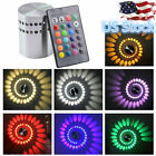 US Spiral 3W LED Wall Light Sconces Aisle Celling Bedroom Bar Fixture Bulb Lamps