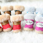Pet Shoes Outdoor Shoes Snow Boots Waterproof Chihuahua Cat Dog Shoes 4 pcs Lot