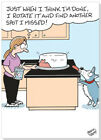 Oatmeal Studios Dog Licking Cake Frosting Funny Birthday Card