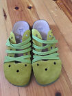 THINK Womens shoes size 37 6 65 green  cork  comfort clogs