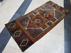 Oriental Handmade Doormat Bath Mat Small Rug Boho Carpet Welcome mat 1.5x3.3feet