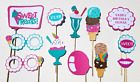 Ice Cream Social Party Photo Booth Props 12 Pieces