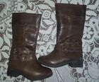 Young Girls Brown  NINE WEST Boots Fall Winter Size Size 7