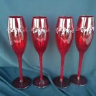 Set of 4 Ruby Red 10