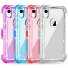 For iPhone X 10 Holster Clip Belt Clear PC Back Shockproof Protective Cover Case