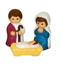 3 Piece Childrens Nativity Blow Mold Christmas Decoration