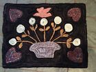 Hand Made Primitive Style Hooked Rug. Seasons At Seven Gates Farm.