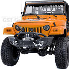 Rock Crawler HD Front Bumper+Winch Plate+LED Mount for 97 06 Jeep Wrangler TJ