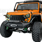 X Stubby Front Bumper+Built in Winch Plate+Cover Fit 07 17 Jeep JK Wrangle