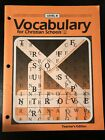 Bob Jones BJU Vocabulary for Christian Schools Level B Teachers Ed Grade 8 NEW