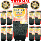 Lot 1 12 Pairs Men Sox Outdoor Extreme Weather Thermal Heated Crew Boots Socks