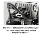 Jeep Front Bumper with Winch Plate for 87-06 Jeep Wrangler SRC Stinger Series