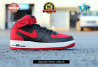 315123 029 NIKE AIR FORCE 1 MID 07 BLACK RED WHITE