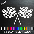 Checkered Flags Decal Sticker Racing Race Car Corvette Sports Car