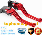 For Suzuki KATANA GSX600F GSX750F 1989-2006 Short Clutch Brake Levers Red US CNC