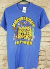 School House Rock Knowledge Is Power Mens T Shirt Size SM Ripple Junction Blue