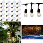 Outdoor Patio Replacement Glass Bulbs Light Vintage String Lights Pack of 20Pcs