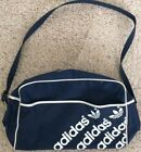 Vintage 70s 80s Adidas Duffel Gym Shoe Bag Spell Out Trefoil Rom Vienna Munchen